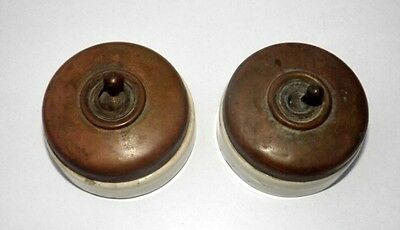 Vintage Vitreous Brand Brass Ceramic Switch British Make Exalta Patent Lot # 2
