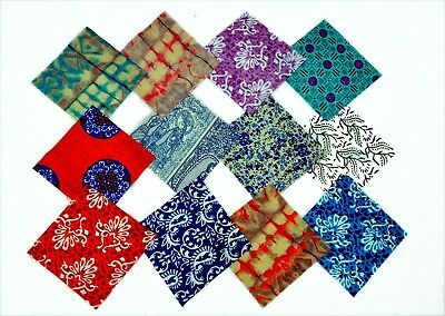 Assorted Pre Cut Charm Pack Squares 100% Cotton Fabric Quilt Scrap Fast Delivery