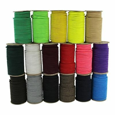 """SGT KNOTS Marine Grade Dacron Polyester Shock/Bungee Cord 1/8"""",3/16"""",1/4"""" Colors"""