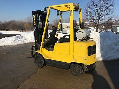 2002 Hyster 5000 Pound LPG/Propane Forklift-WE WILL SHIP! BUDGET LIFT-Lifts 15ft