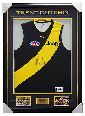 Trent Cotchin Signed Official Richmond Captains Jumper Framed 2017 AFL Premiers