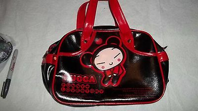PUCCA Mammotsu  Women's Leather Black & Red Purse Bag Japanese ANIME