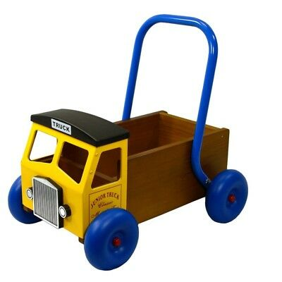 Wooden Truck Baby Walker Push Along Yellow by Great Gizmos