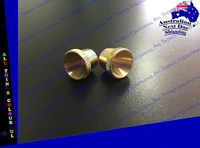 2 x Regular Brass Cone Pieces