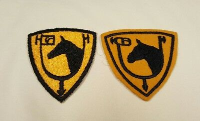 WW2 61st Cavalry Patches Minty Woolie and Cut Edge Examples Pair Cavalry