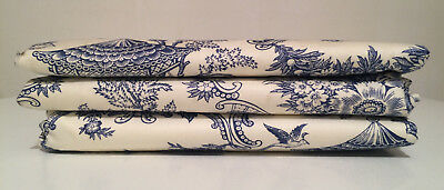 Electric Plate Warmer in Blue & White Toile Fabric Heats Up to 15 Plates NEW