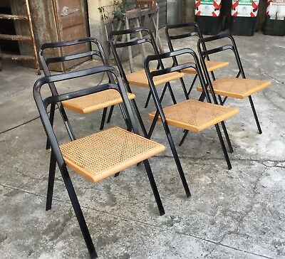 Cidue  1970'  Folding Chairs Lot of 6