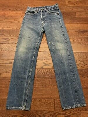 Vintage Levi's 501 Made In USA Writing On Jeans - 29.5 X 30