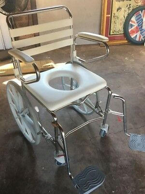 Wide Self-Propelled Shower Commode - PreOwned, Great Condition - RRP: $1,795.95