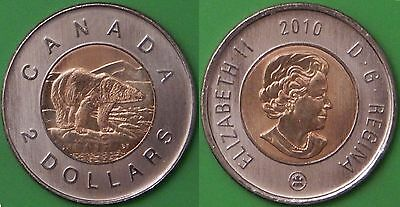 2010 Canada Toonie Graded as Brilliant Uncirculated From Original Roll