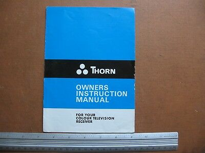 Thorn Colour Tv Owners Instruction Manual