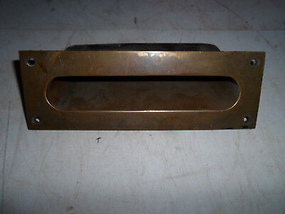 Vintage Antique Yale Deqression Era Brass Letter Mail Chute Hardware Slot