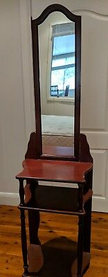 Timber Hall Stand with Mirror - Great Condition - RRP: $489