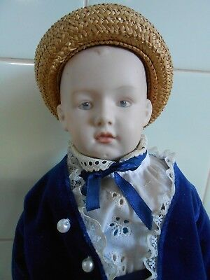 Artist Antique Reproduction Boy Doll  Heubach Germany