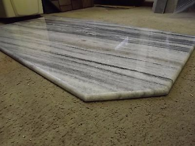 Marble fire hearth for wood heater or fireplace 1300x715mm