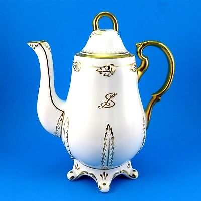 Ornate Gold Design Royal Chelsea Footed Large Teapot