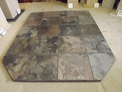 Fireplace hearth for wood heater made of slate stone tiles 1500 deep x1200 wide