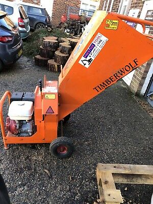 timberwolf TW13/75 wood chipper ideal for back garden work. takes up to 3 inch