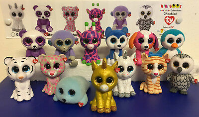 w-f-l Ty Mini Boos Series 2 Collectible Figures 5 cm Beanie Boos Selection
