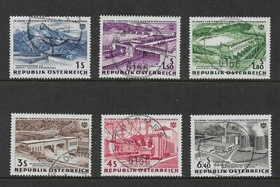 AUSTRIA 1962 15th Anniversary Electric Power Nationalisation, set of 6, used