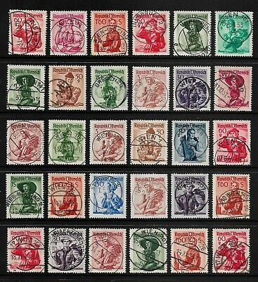 AUSTRIA 1948+ Provincial Costumes, Postmarks No.3, some nice cancels