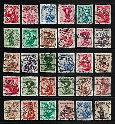 AUSTRIA 1948+ Provincial Costumes, Postmarks No.4, some nice cancels
