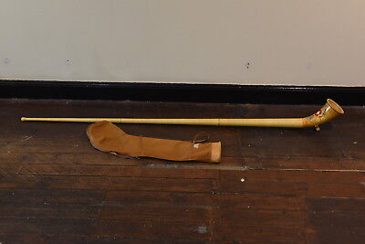 Vintage Swiss Alphorn Alpine horn by Walter Lussi with Bag