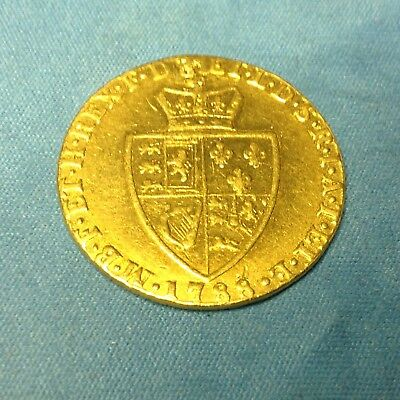 1788 KING GEORGE III SPADE GUINEA FULL GOLD SOVEREIGN 7.7grams