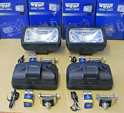 Set of 4 Wipac Roof Bar Driving Lamps 'E' Marked Wipac S7205