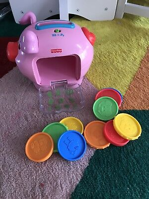 Fisher Price piggy bank with coins and music baby toy