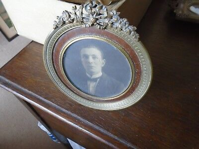 Antique Brass Miniature Photo Frame