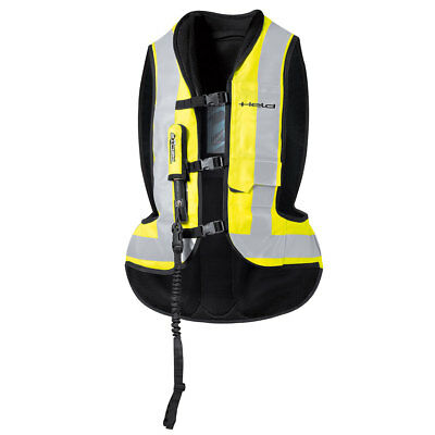 Held Air Vest Black / Fluo Yellow Moto Inflatable Protector Vest | All Sizes