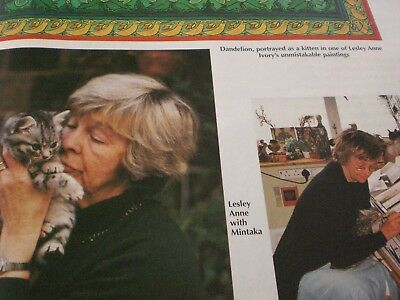 Lesley Anne Ivory & Mintaka - All About Cats magazine January 1998