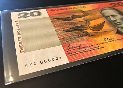 $20 Note ** NUMBER ONE SERIAL ** EYC 000001 ** 1989 Phillips/Fraser ** RARE!!!
