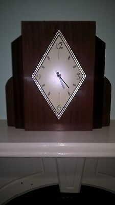 French Art Deco Style Country Corner Reproduction Mantle Clock