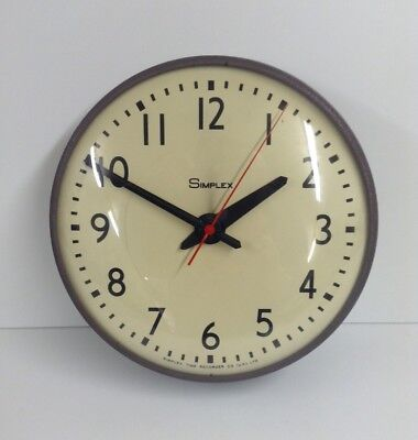 Viintage Simplex Time Recorder Electric Industrial Factory School Wall Clock