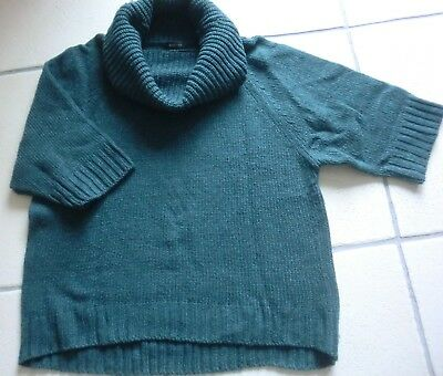Petrolfarbender Strickpullover
