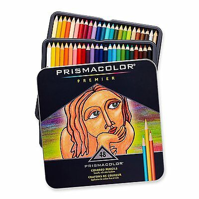 PrismaColor Premier Soft Core 48 Coloured Pencils Prismacolour New Tin Box