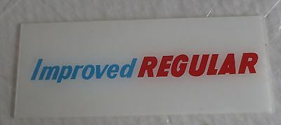 Vintage Mobilgas Improved Regular Oil Advertising Glass Gas Pump Insert Sign