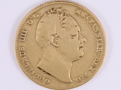 1837 William IV Gold Sovereign Coin Rare Collectable 22ct Gold Bs27