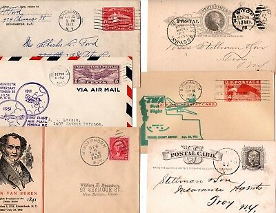 twelve nice new york state covers & cards - see description