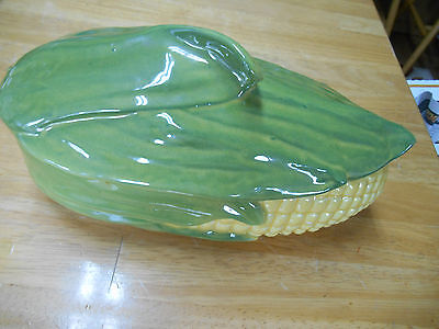 Vintage Shawnee Corn Covered Serving Dish - Made In Usa