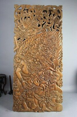 19th C. Possibly Tibet/Southeast Asia Wood Carved Thangka