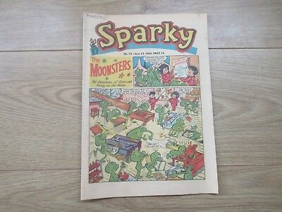 SPARKY COMIC No 75 - JUNE 25TH 1966 - Good condition-Rare - like Beano/Dandy