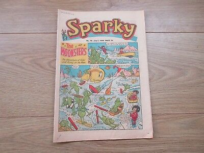 SPARKY COMIC No 76 - JULY 2ND 1966 - Good condition-Rare - like Beano/Dandy