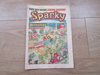 SPARKY COMIC No 86 - SEPT 10TH 1966 - Good condition-Rare - like Beano/Dandy