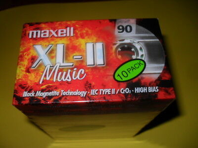 10 x Maxell XL II 90 TOP Tapes Sealed !