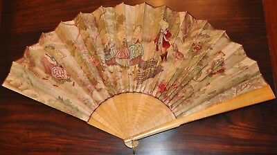 Large Vintage Chinese Export Fan