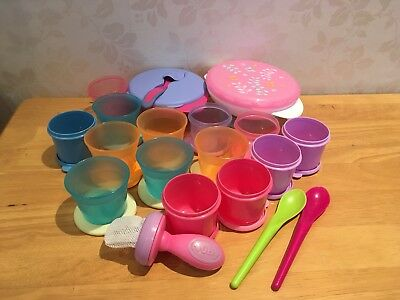 Bundle Of Baby Weaning Pots/tubs Tomee Tippee