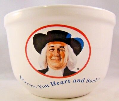 Quaker Oats Oatmeal Cereal Bowl Vintage 1999 Warms You Heart and Soul #31017